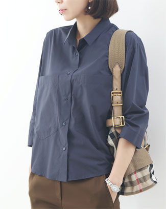 심플 코튼 베이직 이태리무드 셔츠 (2color)